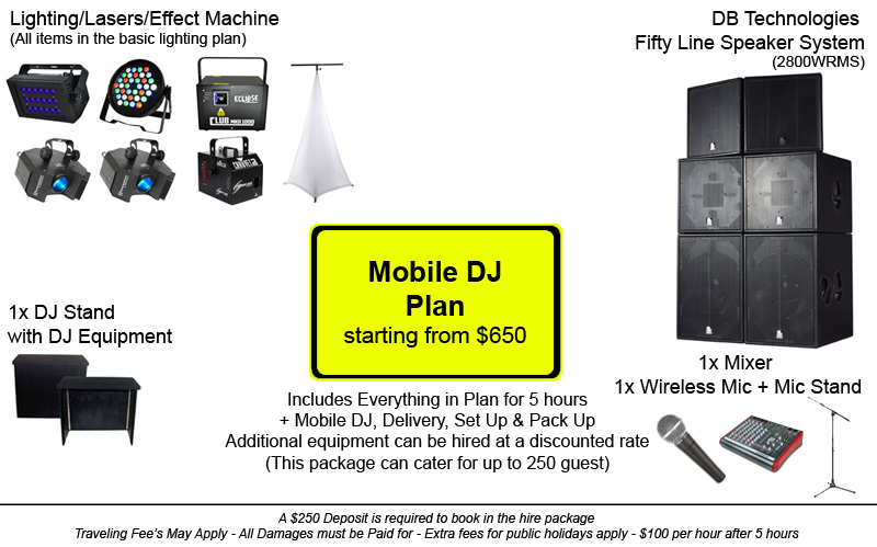 Dance Party Hire - Audio Visual, Mobile DJ & Party Hire Plan