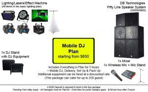 Mobile DJ Plan