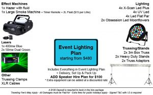 Event Lighting Plan