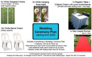 Wedding Ceremony Plan