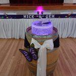 Custom Cake Stand set up