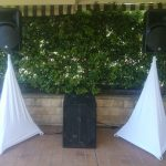 Speaker Hire Plan (White Scrim Kings & 4 foot table are an additional charge)